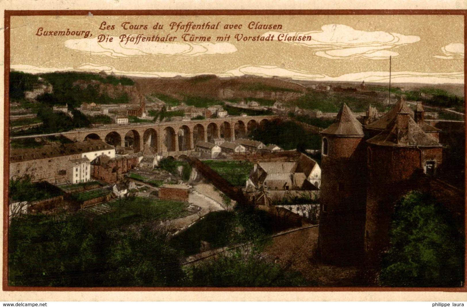 LES TOURS DU PFAFFENTHAL AVEC CLAUSEN      LUXEMBOURG  LUXEMBOURG  LUXEMBURG LUZEMBURGO - Postales