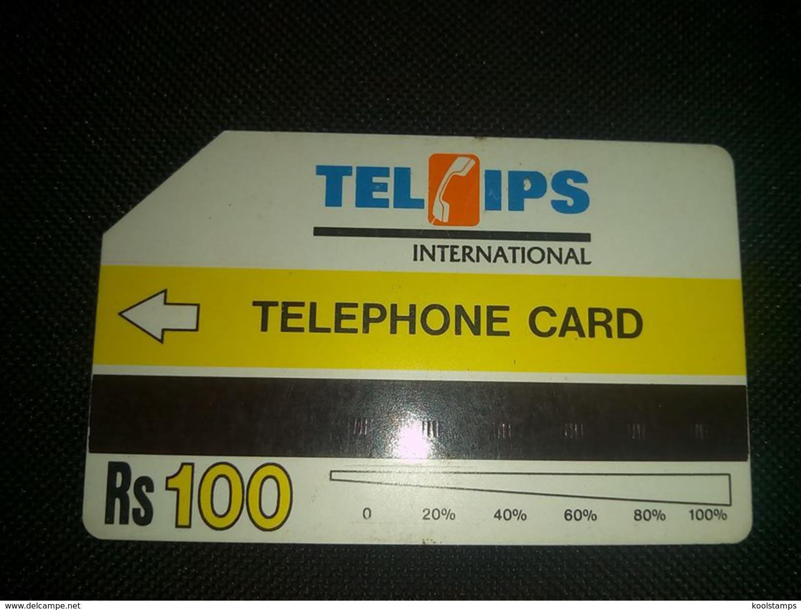 Pakistan Telips Phonecard Used - Telefonkarten