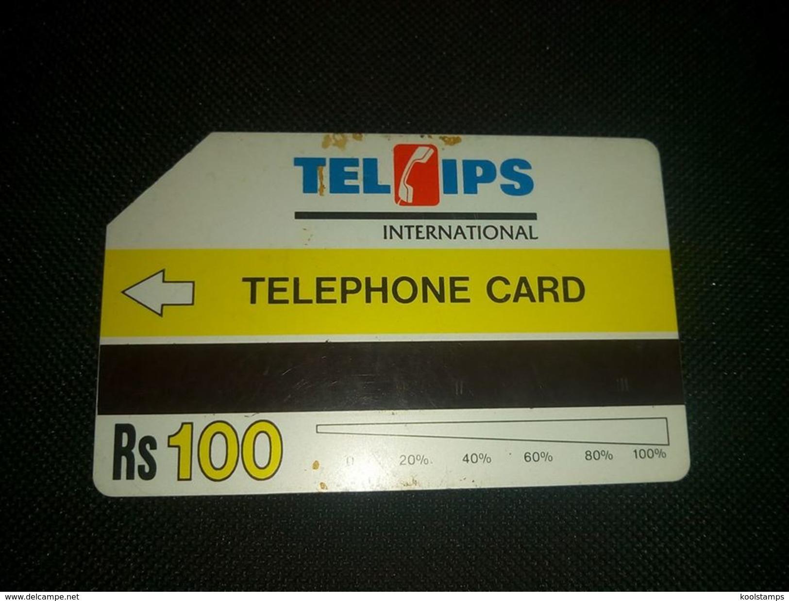 Pakistan Telips Phonecard Used - Télécartes