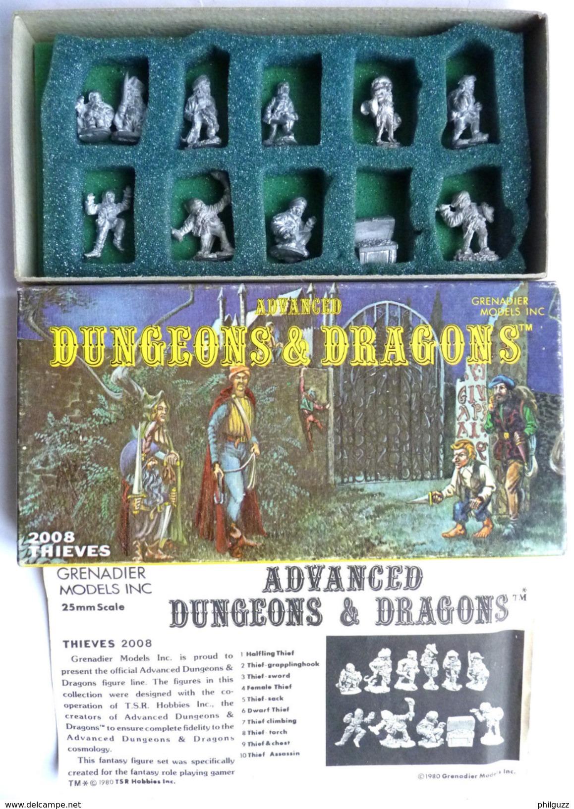 Rare Advanced Dungeons And Dragons 2008 Thieves Voleurs Figures En Boîte - Jeux Vidéo