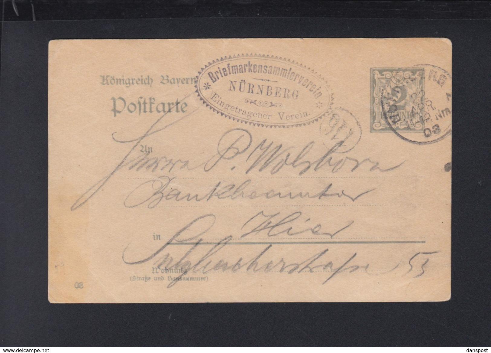 Bayern GSK 1903 Briefmarkenverein Nürnberg - Bayern (Baviera)