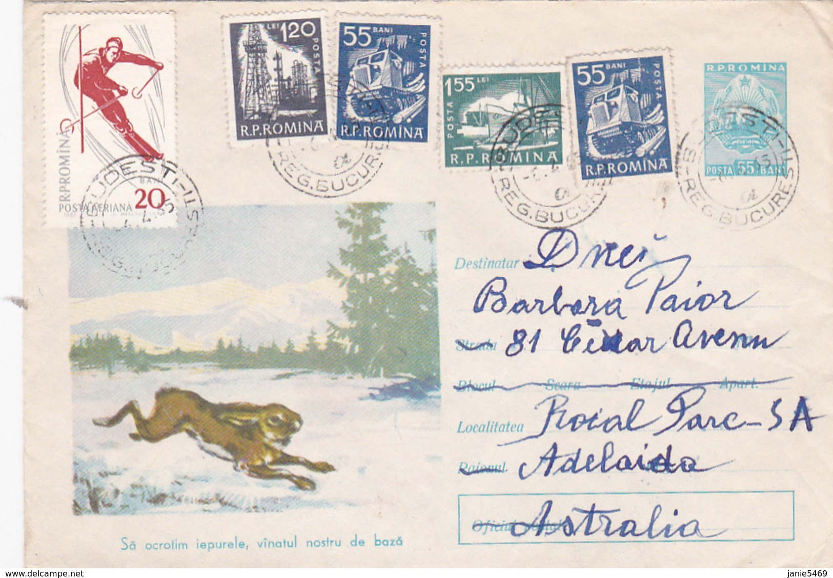 Romania 1965 Cover Sent To Australia ,transport - Covers & Documents
