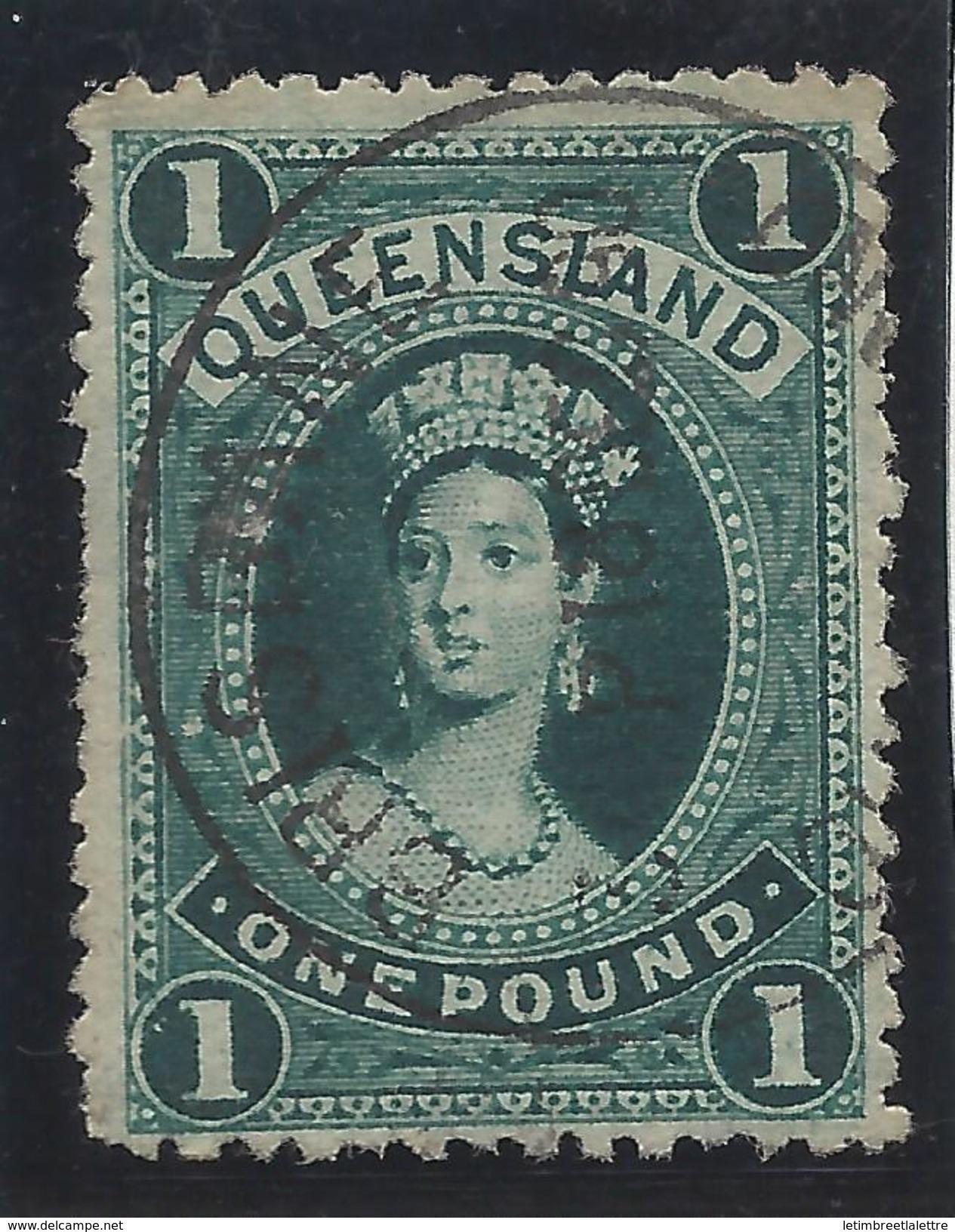 Queensland - N° 50 - Oblitéré - Filigrane Couché - - 1860-1909 Queensland