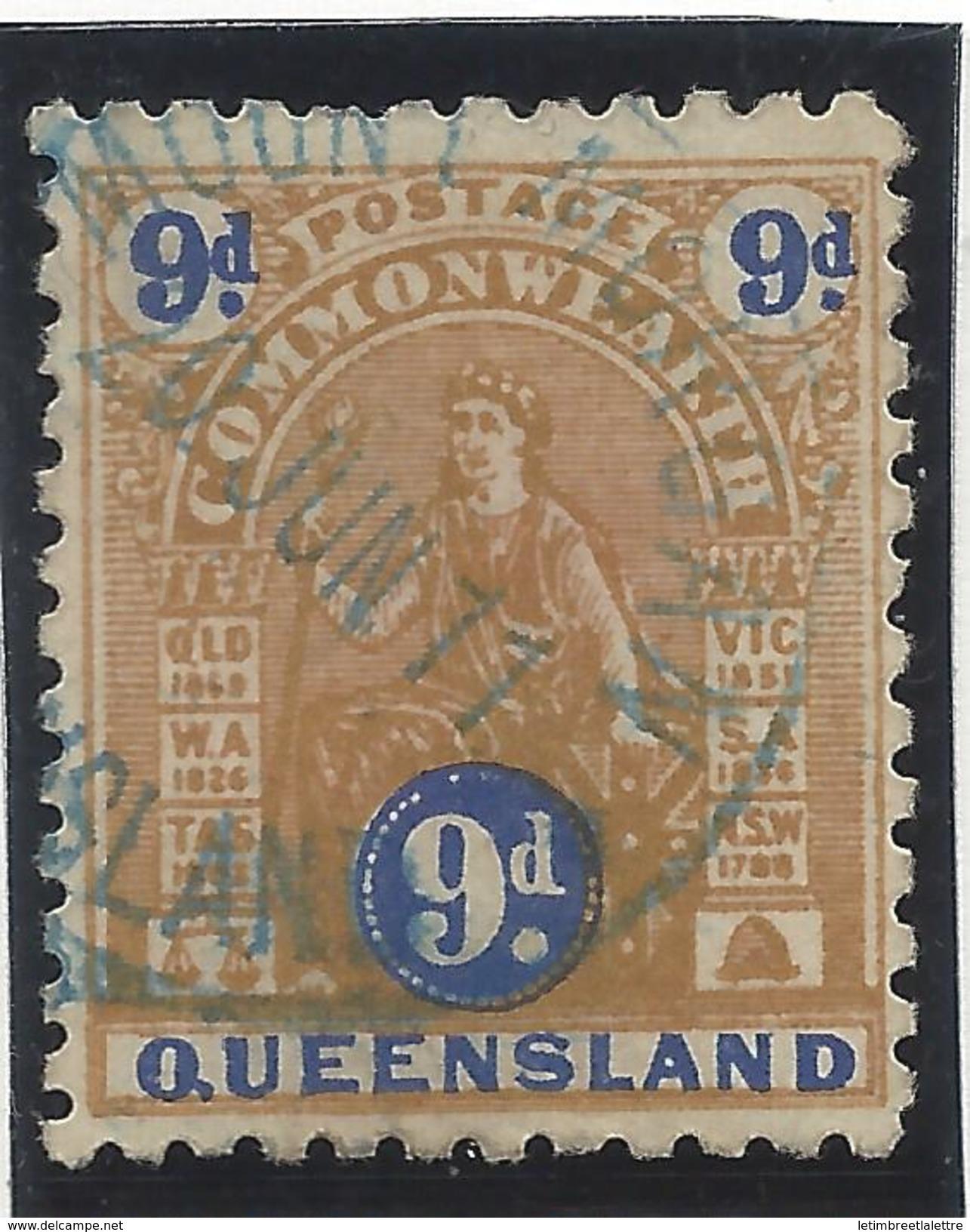 Queensland - N° 101a - Oblitéré - Dentelé 11 - RARE - Usados