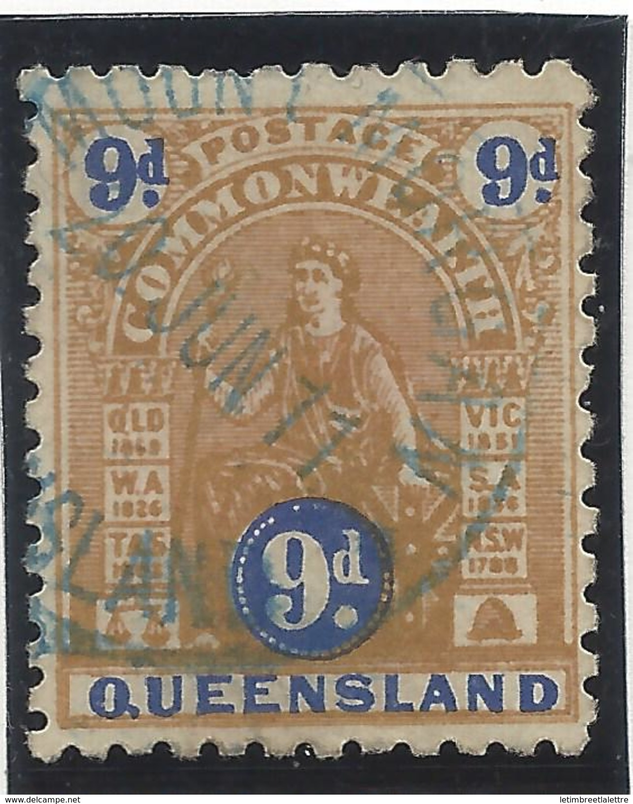 Queensland - N° 101a - Oblitéré - Dentelé 11 - RARE - 1860-1909 Queensland