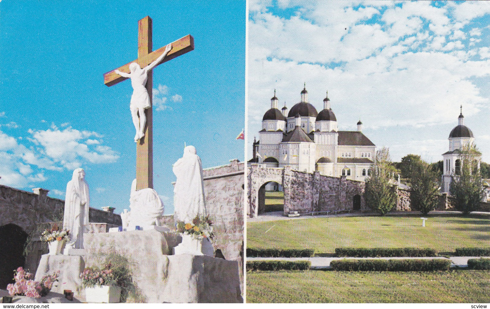 COOK'S CREEK, Manitoba, Canada, 1940-60s; Church And Grotto Of The Immaculate Conception, Ukrainian Catholic Church - Manitoba
