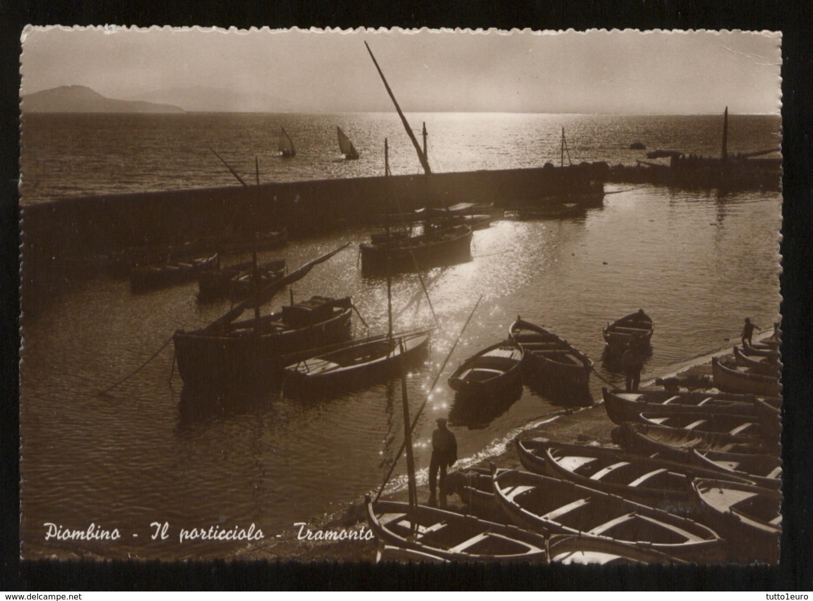 PIOMBINO - LIVORNO - 1947 - IL PORTICCIOLO CON BARCHE - Livorno
