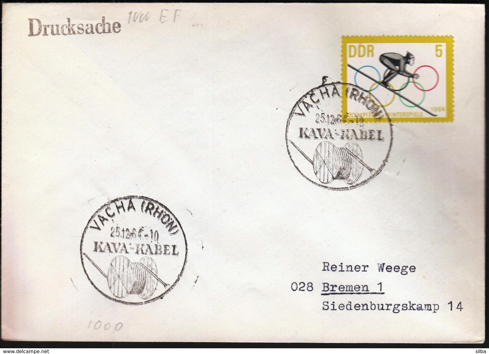 Germany Vacha (Rhon) 1964 / Kava - Kabel / Cabel Industry - Fabbriche E Imprese