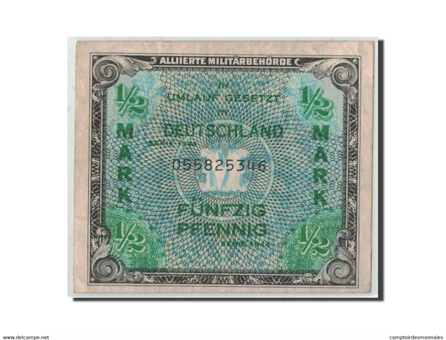 Allemagne, 1/2 Mark, 1944, KM:191a, TB - [ 5] 1945-1949 : Occupation Des Alliés