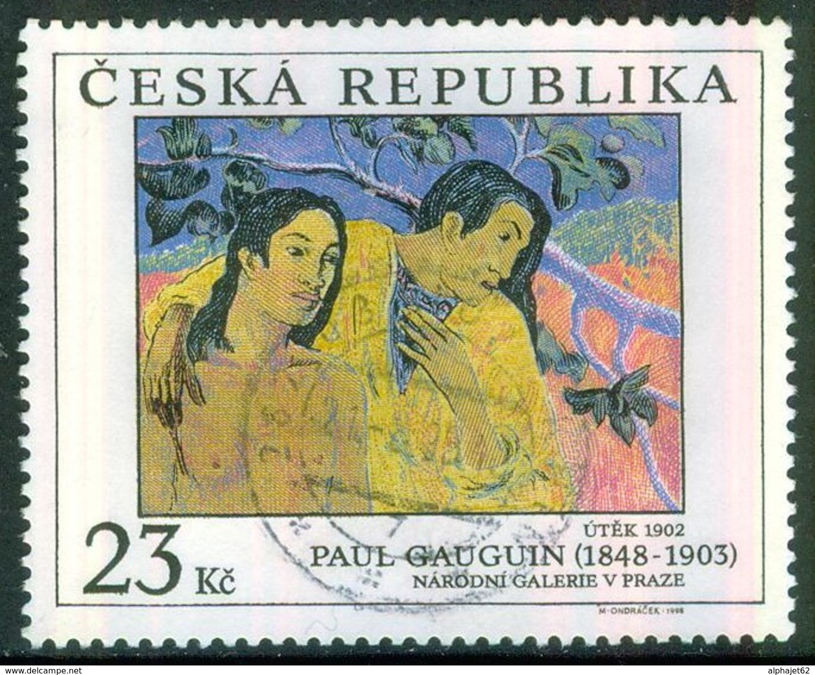 Art, Peinture, Impressionnisme - REPUBLIQUE TCHEQUE - Paul Gauguin - Oeuvre 1902 - N° 186 - 1998 - Tsjechië