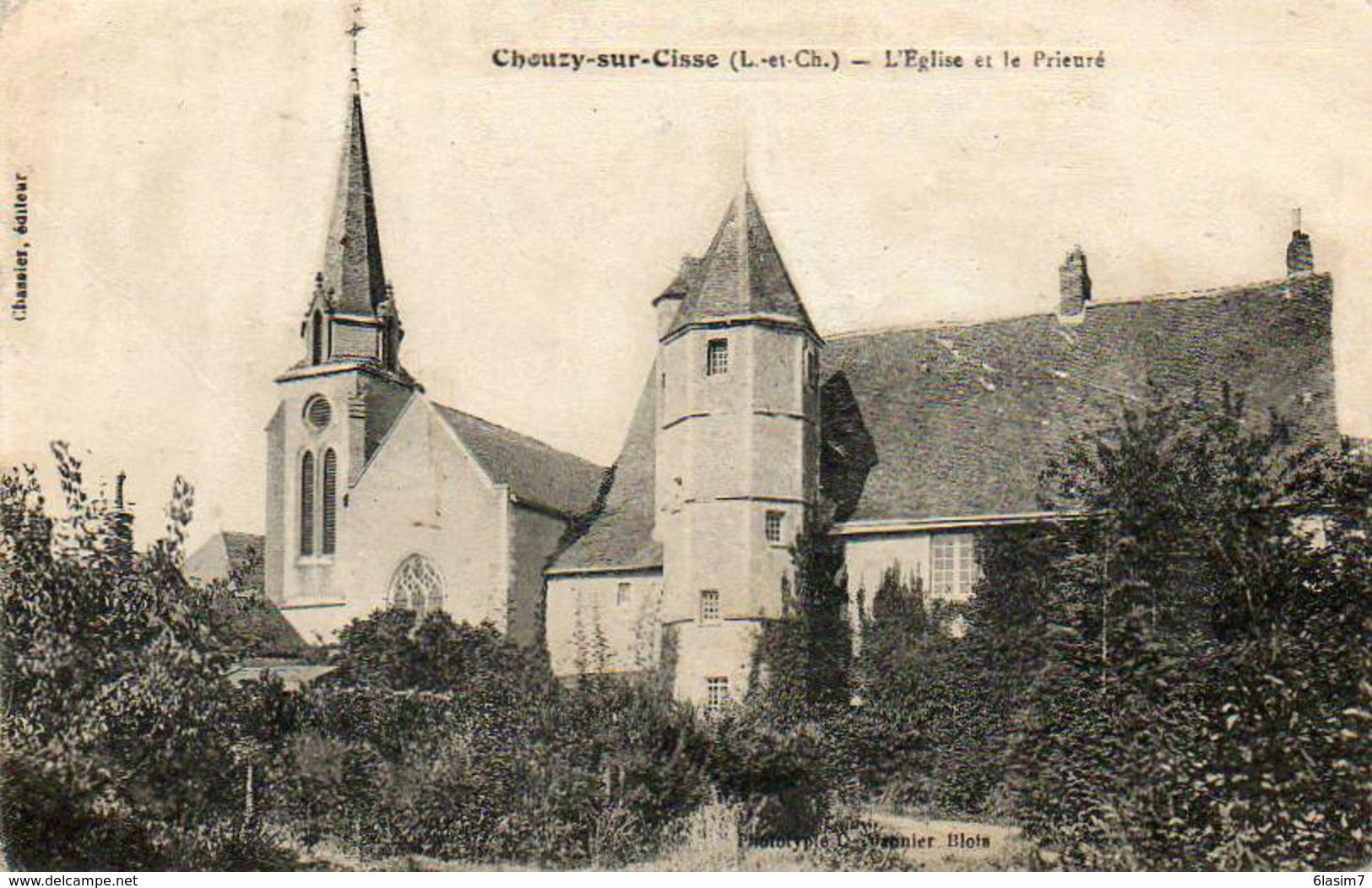 CPA - CHOUZY-sur-CISSE (41) - Aspect De L'Eglise Et Du Prieuré Au Début Du Siècle - France