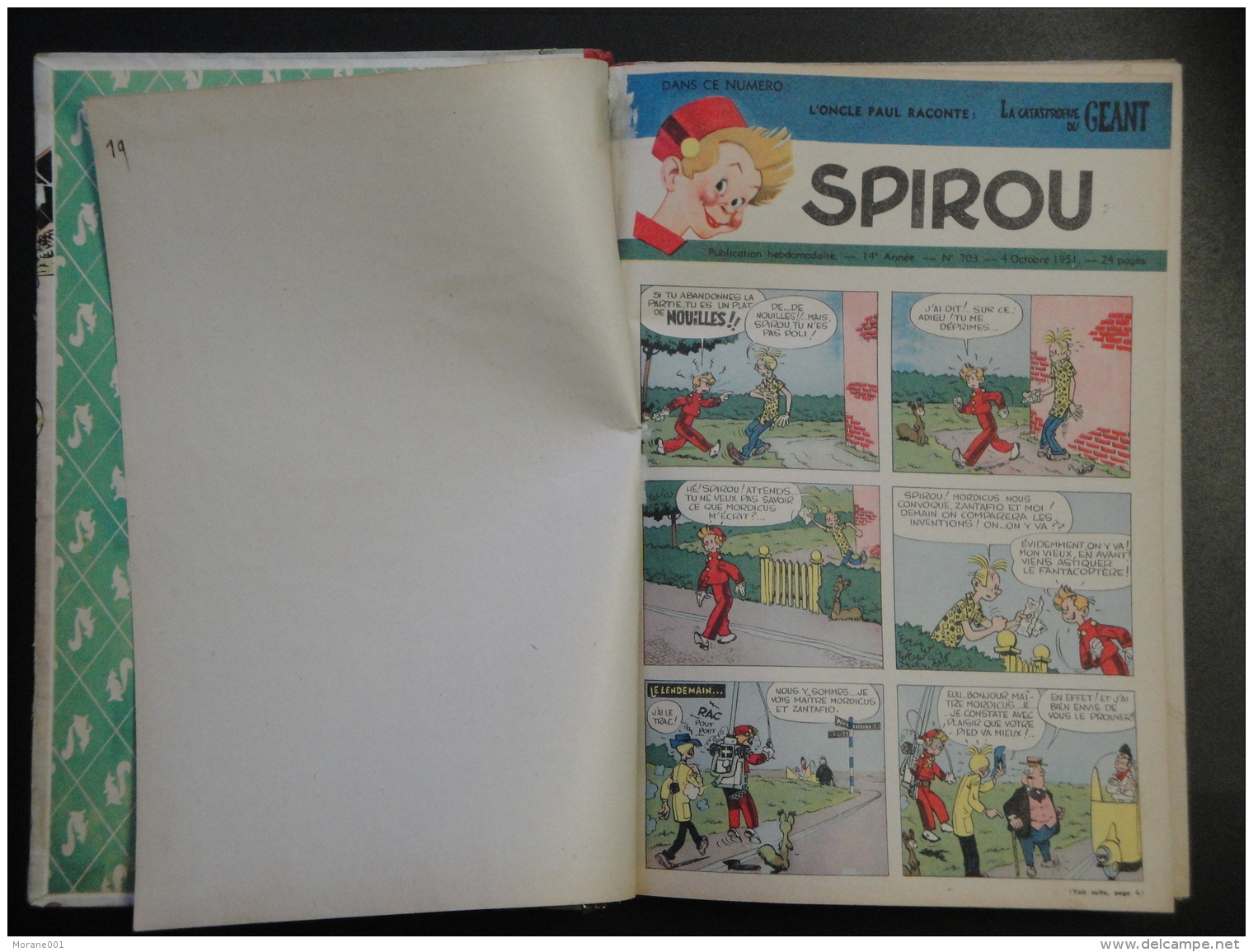 Spirou Album Recueil N°  39  Avec Calendrier 1952 Franquin Bon Etat - Spirou Magazine