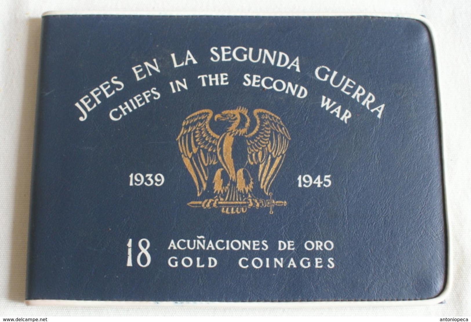 """COLLEZIONE MONETE D'ORO """" JEFES EN LA SEGUNDA GUERRA 1939-1945"""" - Medaglie"""