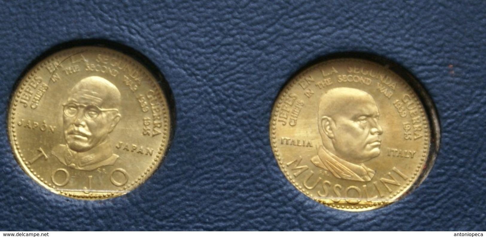"COLLEZIONE MONETE D'ORO "" JEFES EN LA SEGUNDA GUERRA 1939-1945"" - Altri Paesi"