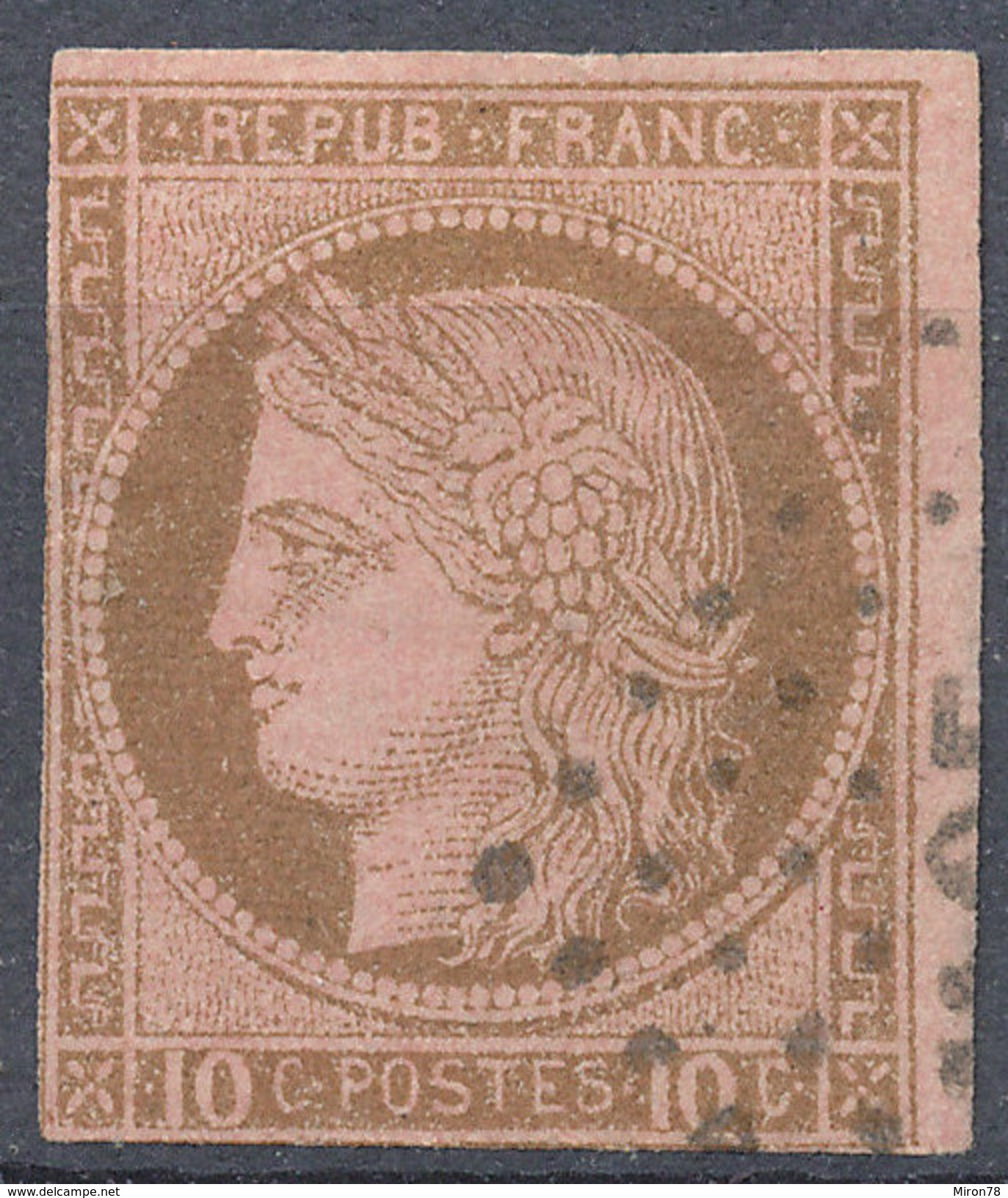 Stamp,Timbre  France189 Ceres 10c  Imperf Used Lot3 - Ceres
