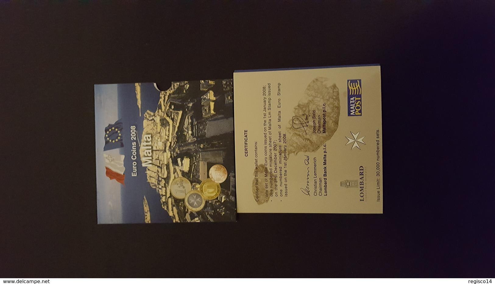 Coffret Euro Malte 2008 - Monnaies & Billets