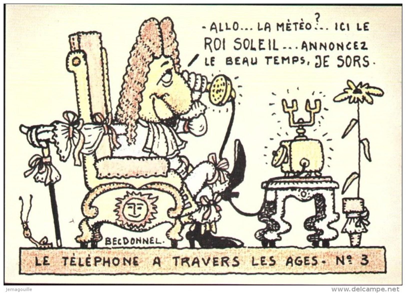HUMORISTIQUES - Collection 128:3 - Le Téléphone à Travers Les âges - BECDONNEL - W-20 - Humour
