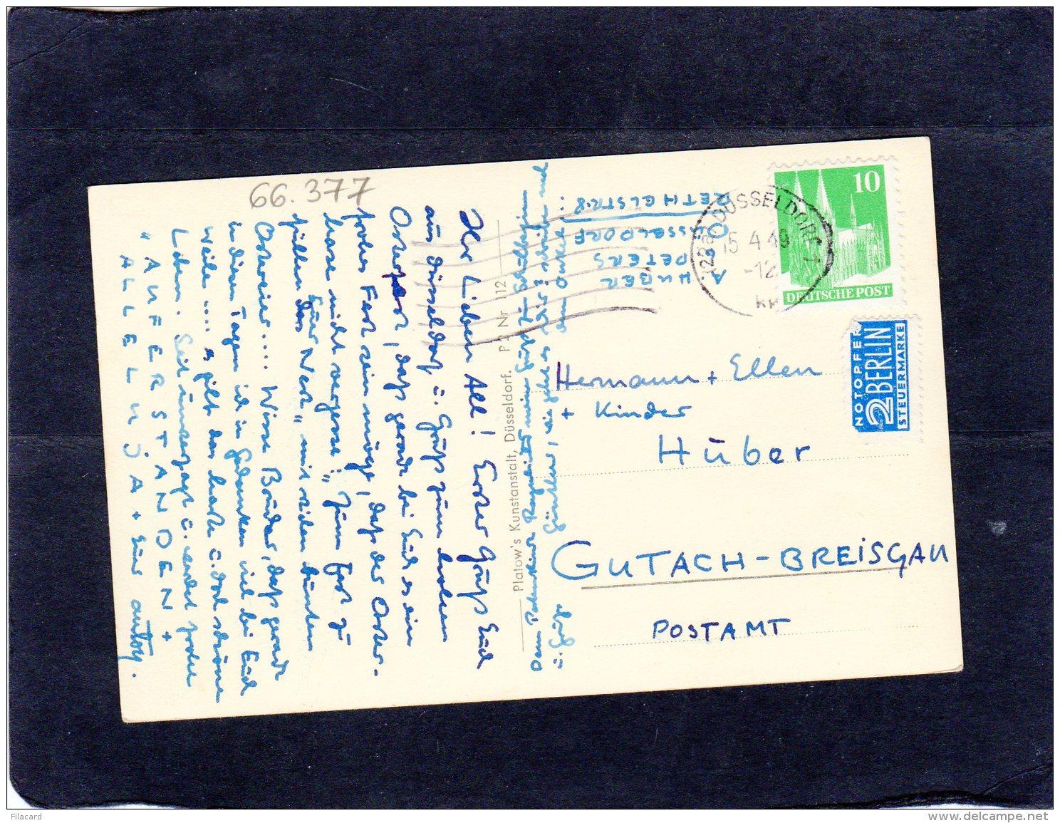66377    Germania,  Dusseldorf,  Rheinschlange,  VG  1949 - Duesseldorf