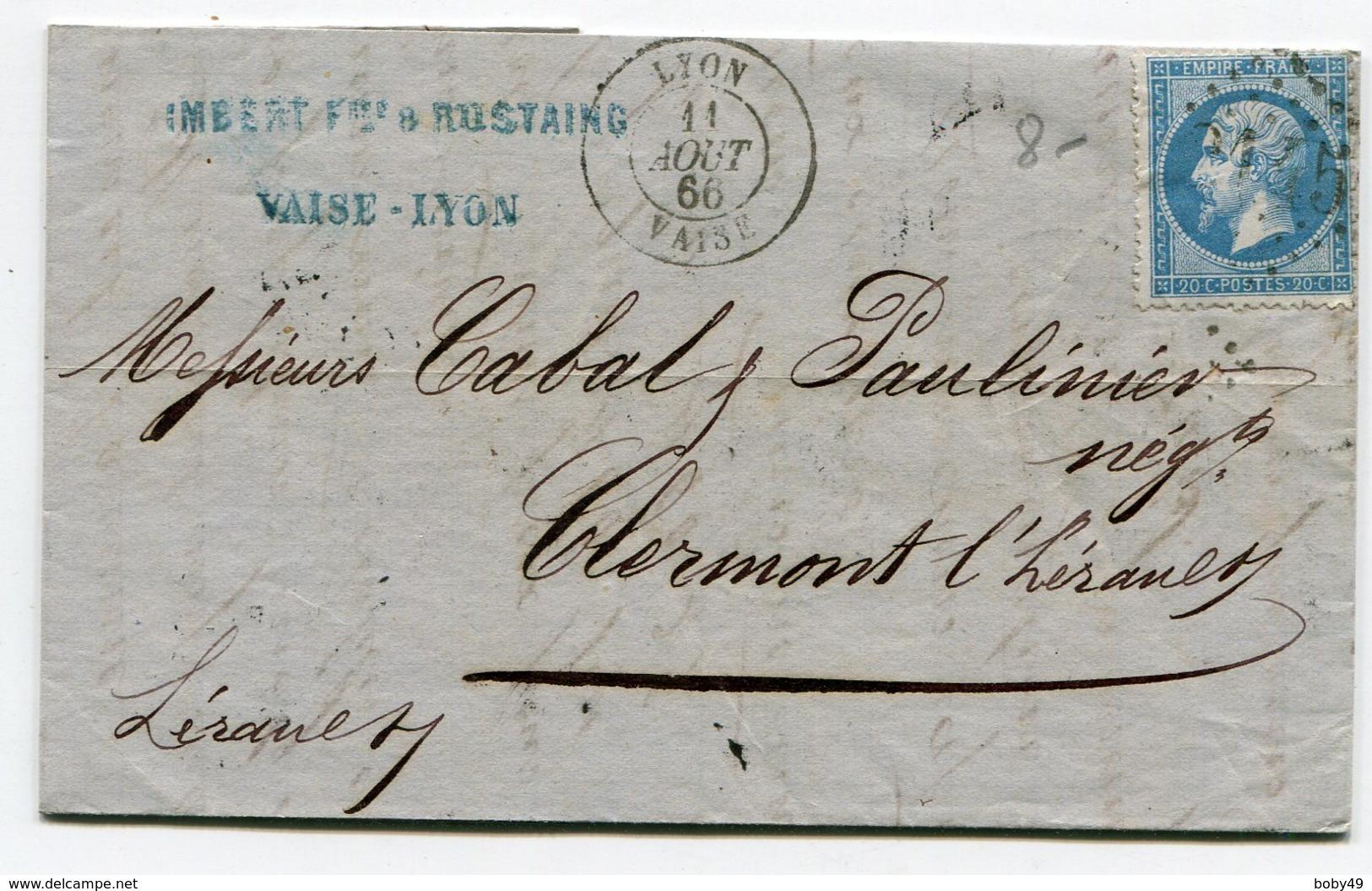 RHONE De LYON VAISE LAC De 1866 - 1849-1876: Periodo Clásico