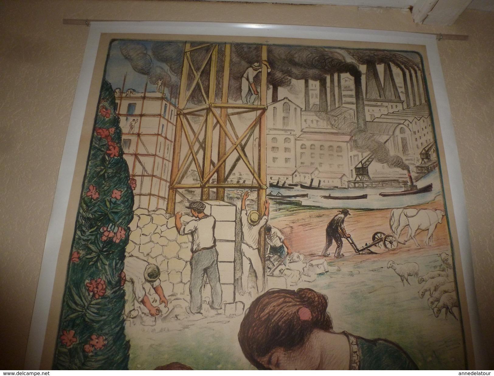 1914 Grande Affiche Ancienne Originale Signée Lebasque  L'EMPRUNT DE LA PAIX , Imprimerie Maquet Gr. Paris (118 X 85cm) - Posters