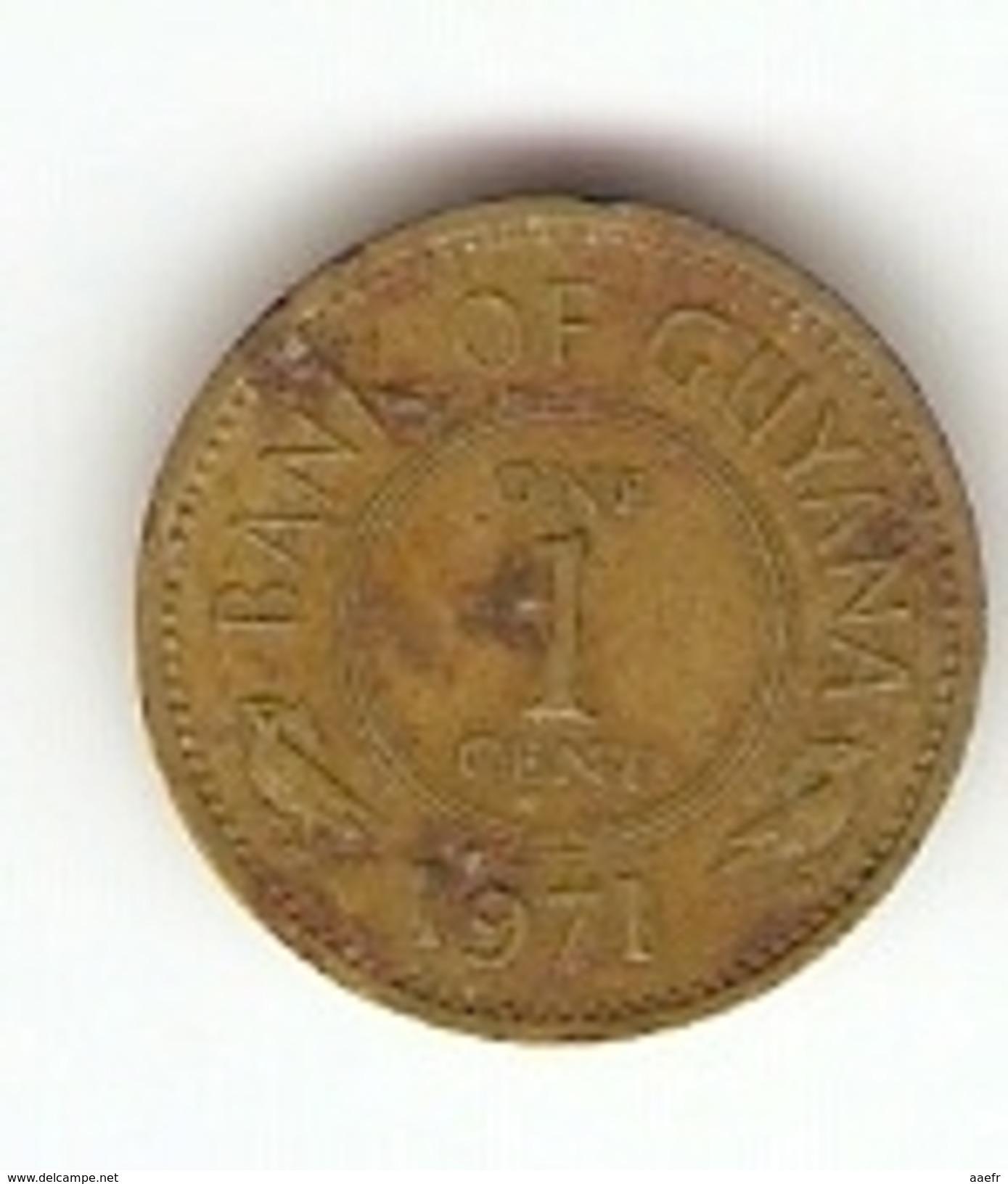 Monnaie - Guyana - 1 Cent - 1971 - Guyana