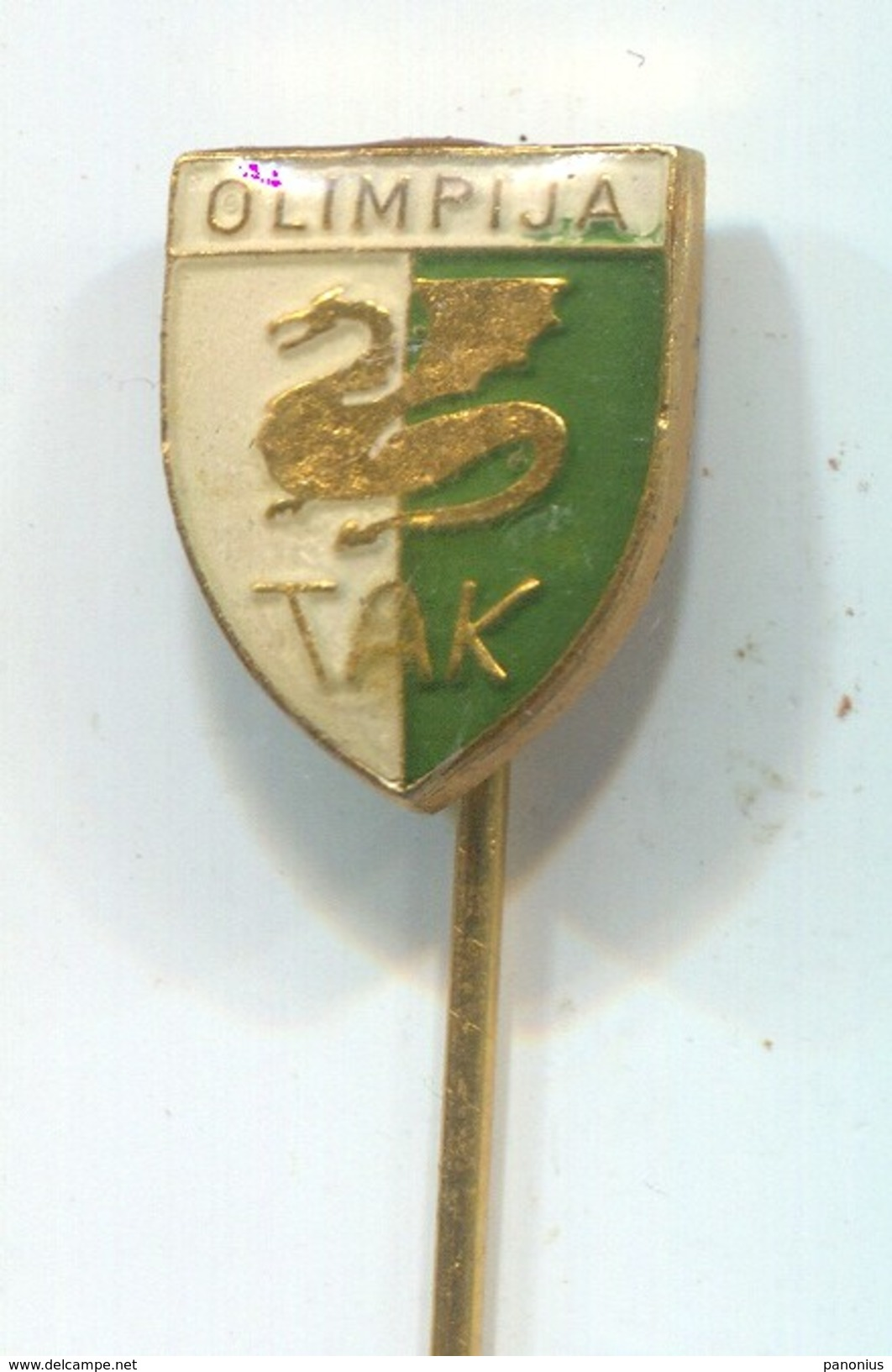 Weightlifting - OLIMPIJA TAK, Ljubljana Slovenia, Vintage Pin Badge, Abzeichen - Weightlifting