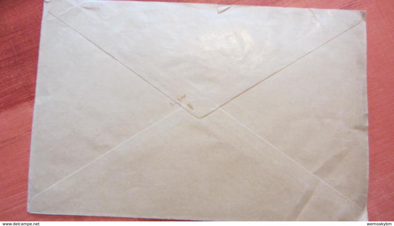 Dt Besetzg: Brief Saar Postsache Vom PA Saarbrücken 2 Nach Halle Vom  2.2.35 - Briefe U. Dokumente