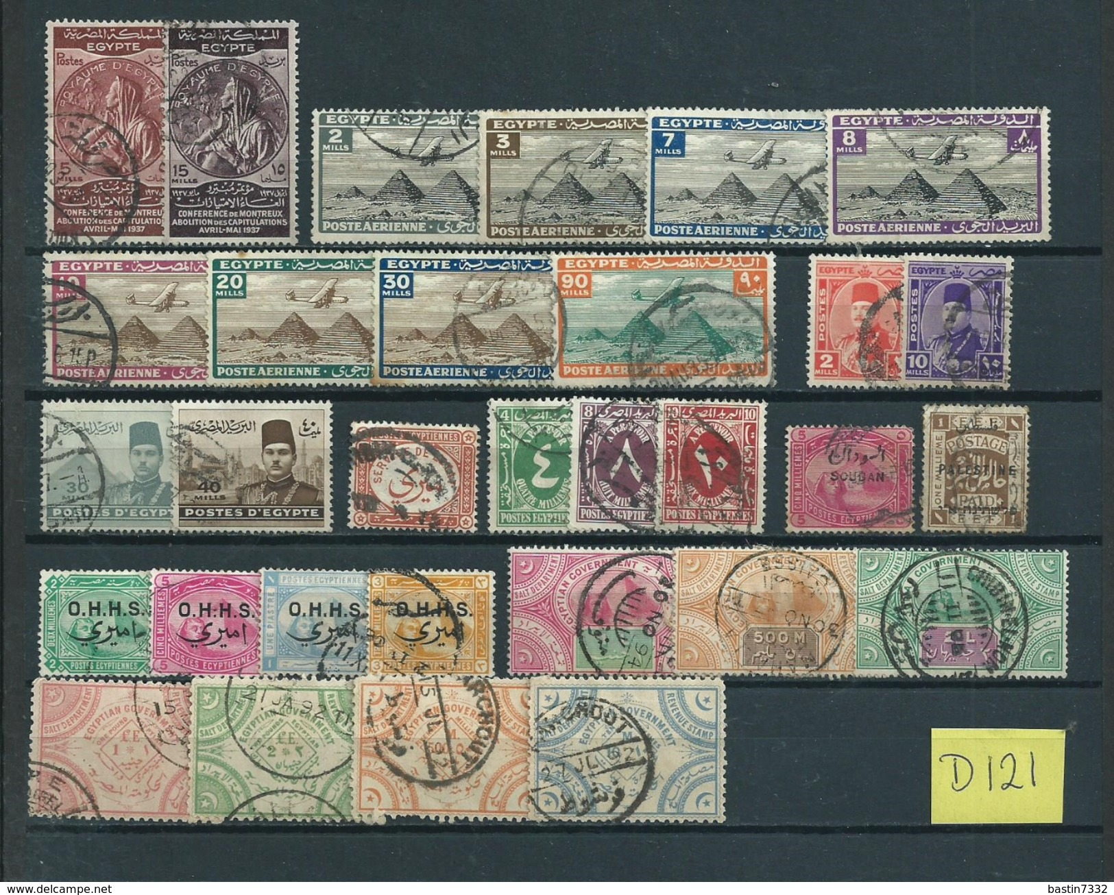 Egypt/Ägypten/Egypte Used/gebruikt/oblitere(D-121) - Collections (sans Albums)