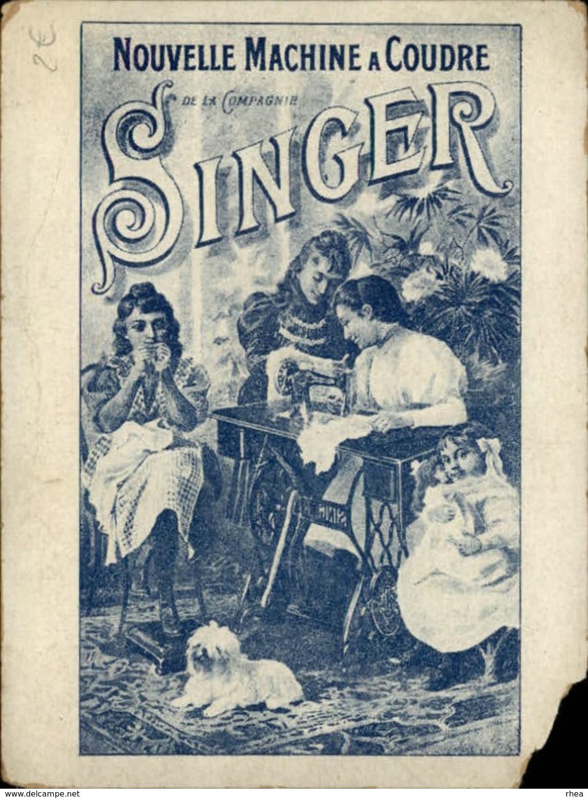 MACHINES A COUDRE - PUB SINGER - Exposition 1900 - Chromos