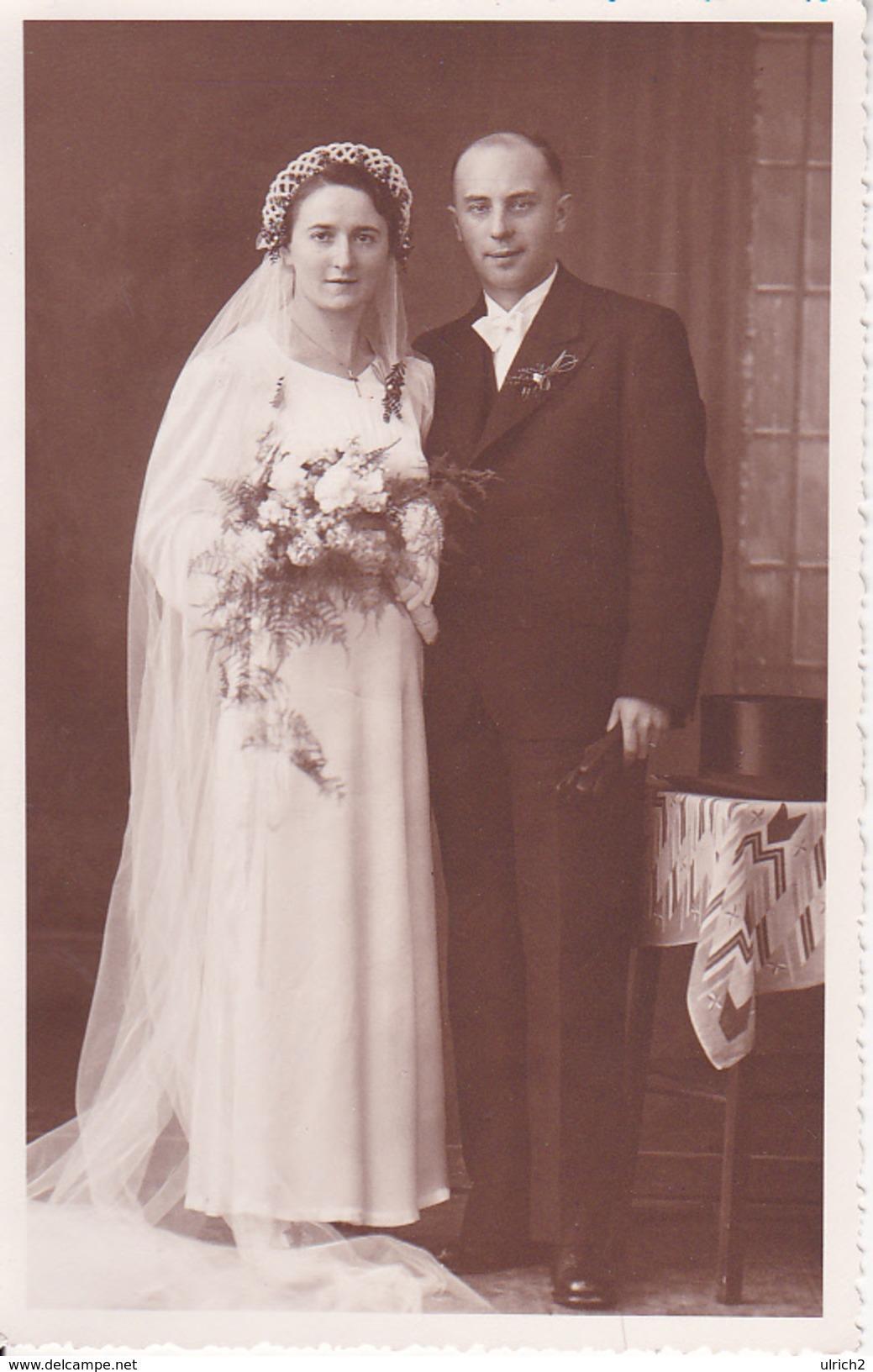 AK Foto Brautpaar - Hochzeit - Hermeskeil - Ca. 1920/30 (26352) - Hochzeiten
