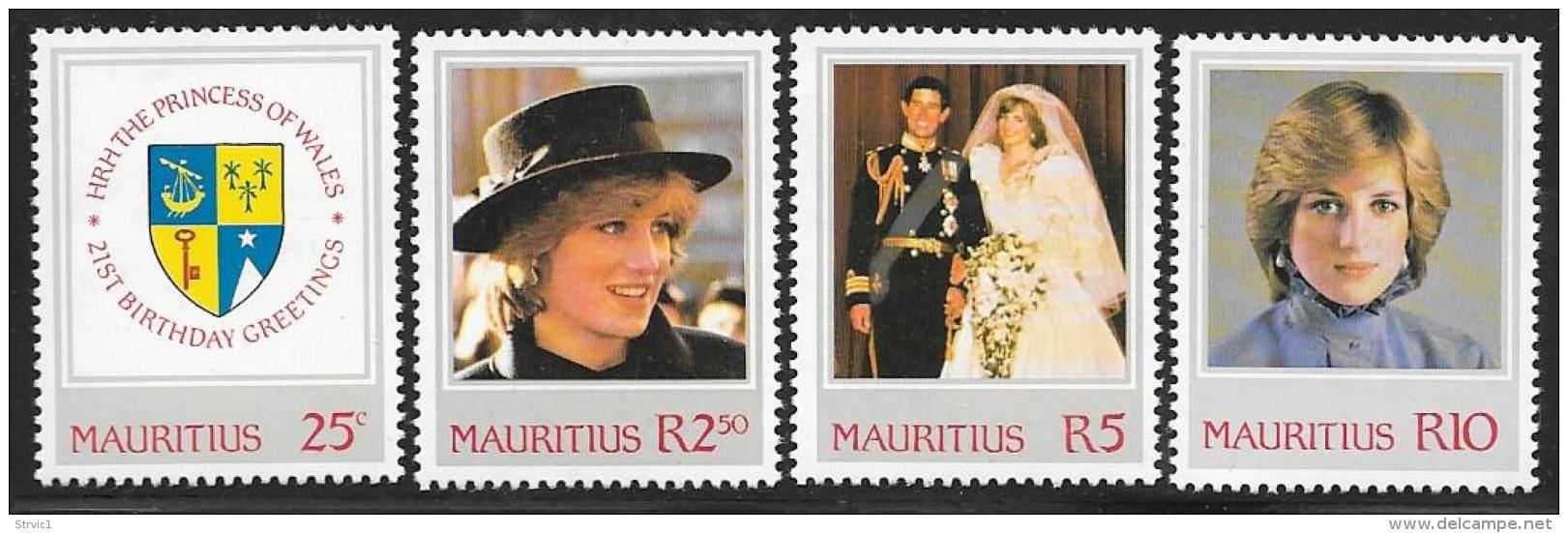 Mauritius, Scott # 548-51 MNH Princess Diana, 1982 - Mauritius (1968-...)