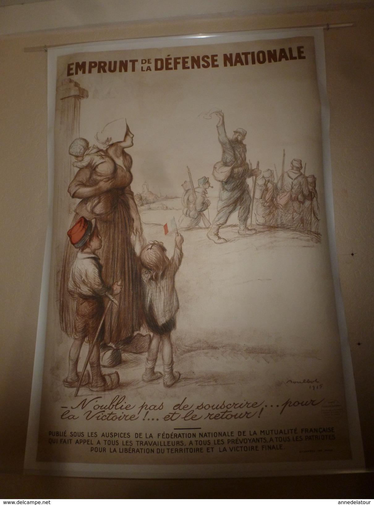 1915 Grande Affiche Ancienne Originale EMPRUNT DE LA DEFENSE NATIONALE , Imp. DEVAMBEZ, Paris (112 X 82 Cm) Par POULBOT - Posters