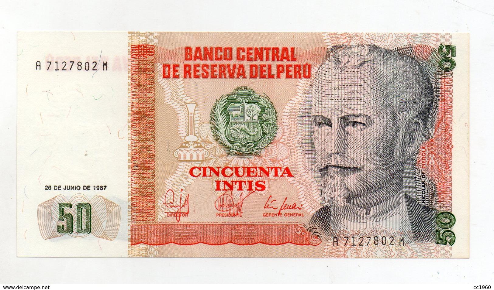 Perù - 1987 - Banconota Da 50 INTIS - Nuova -  (FDC2387) - Peru
