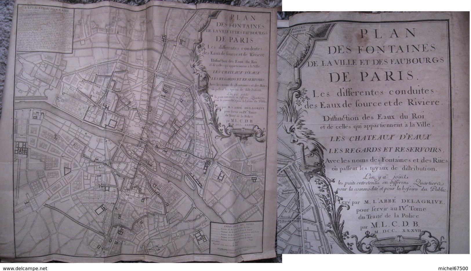 Fontaines De Paris 1737 - Technische Pläne