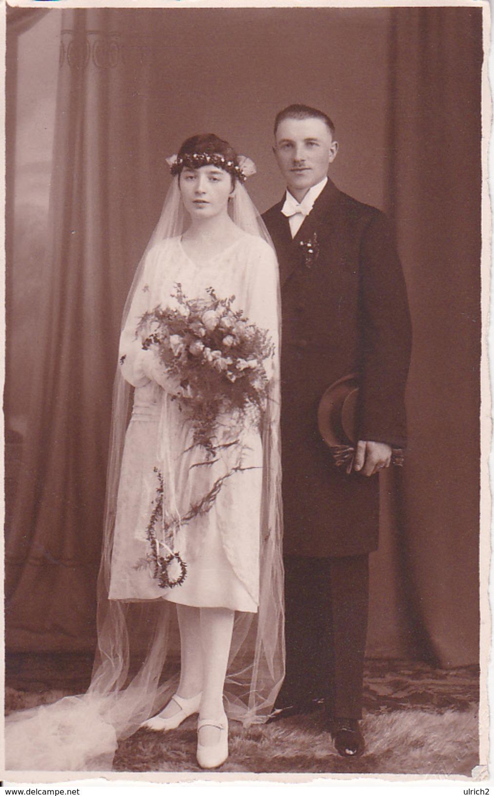 AK Foto - Brautpaar - Ca. 1920 (26394) - Hochzeiten