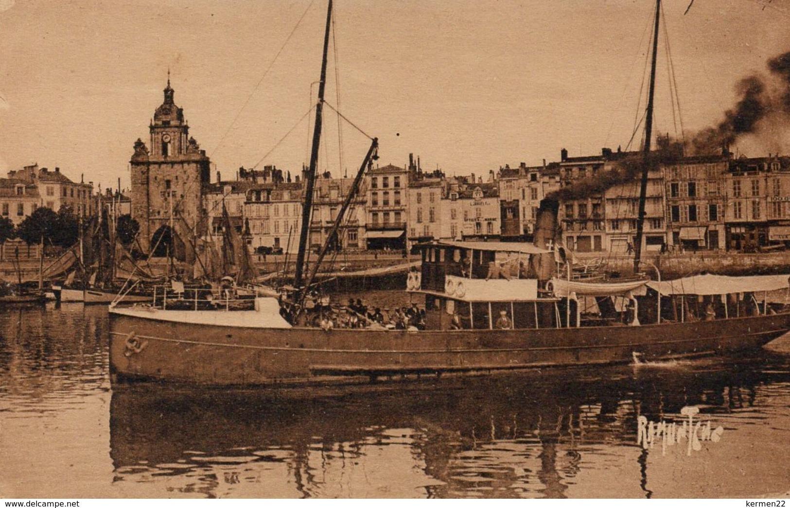 CPA 17 LA ROCHELLE Départ Du Vapeur Pour L´Ile D´Oléron - La Rochelle