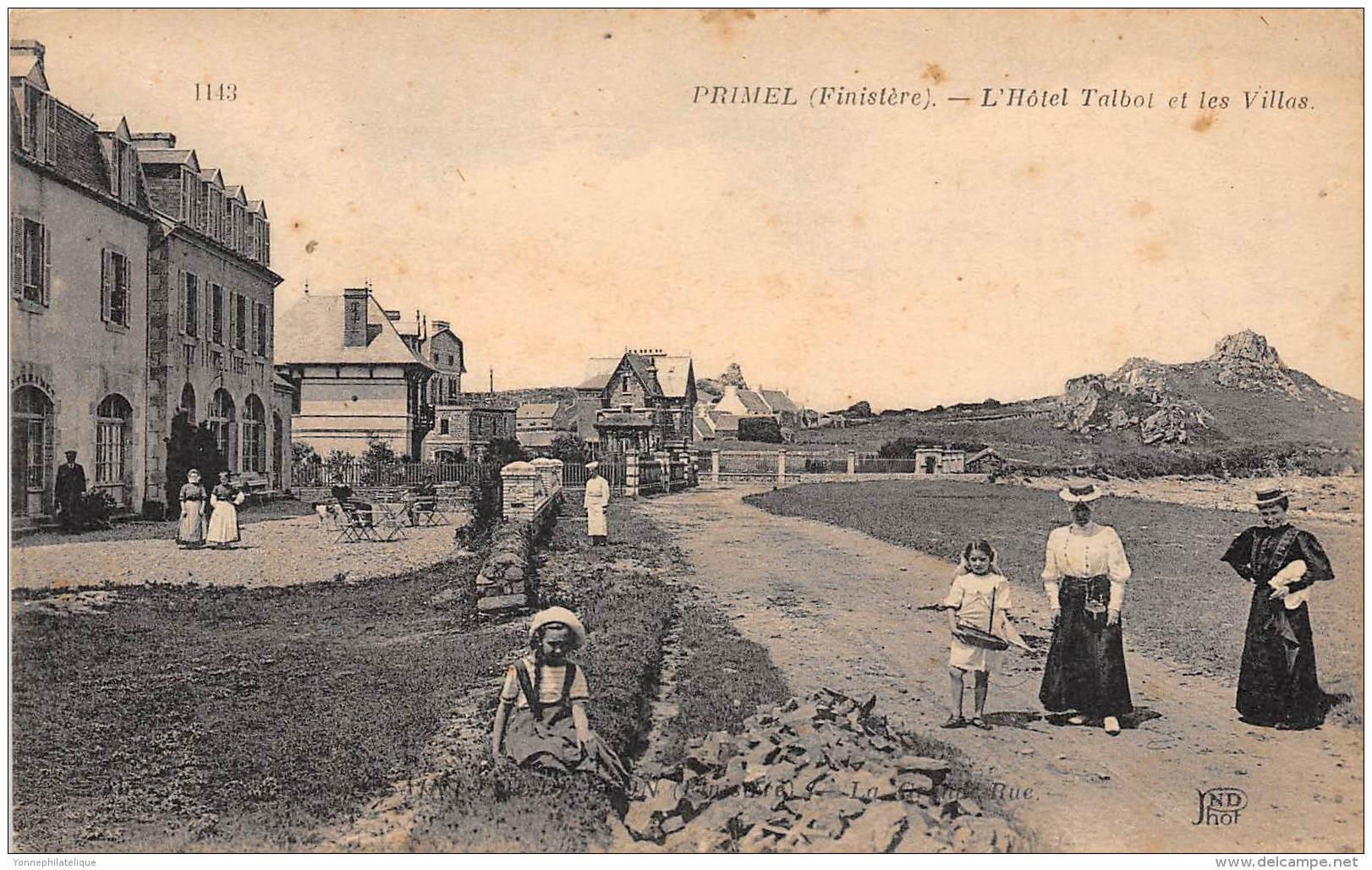 29 - FINISTERE / Primel - Hôtel Talbot Et Les Villas - Beau Cliché Animé - Primel