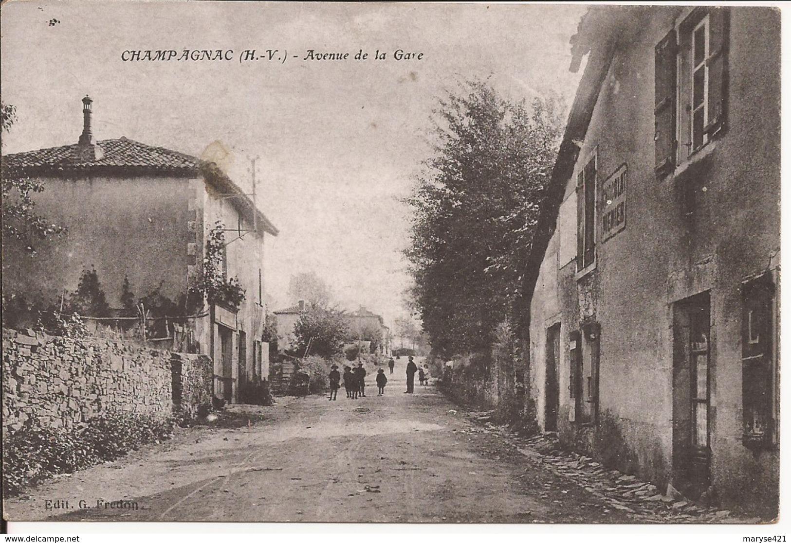 CHAMPAGNAC AVENUE DE LA GARE - France