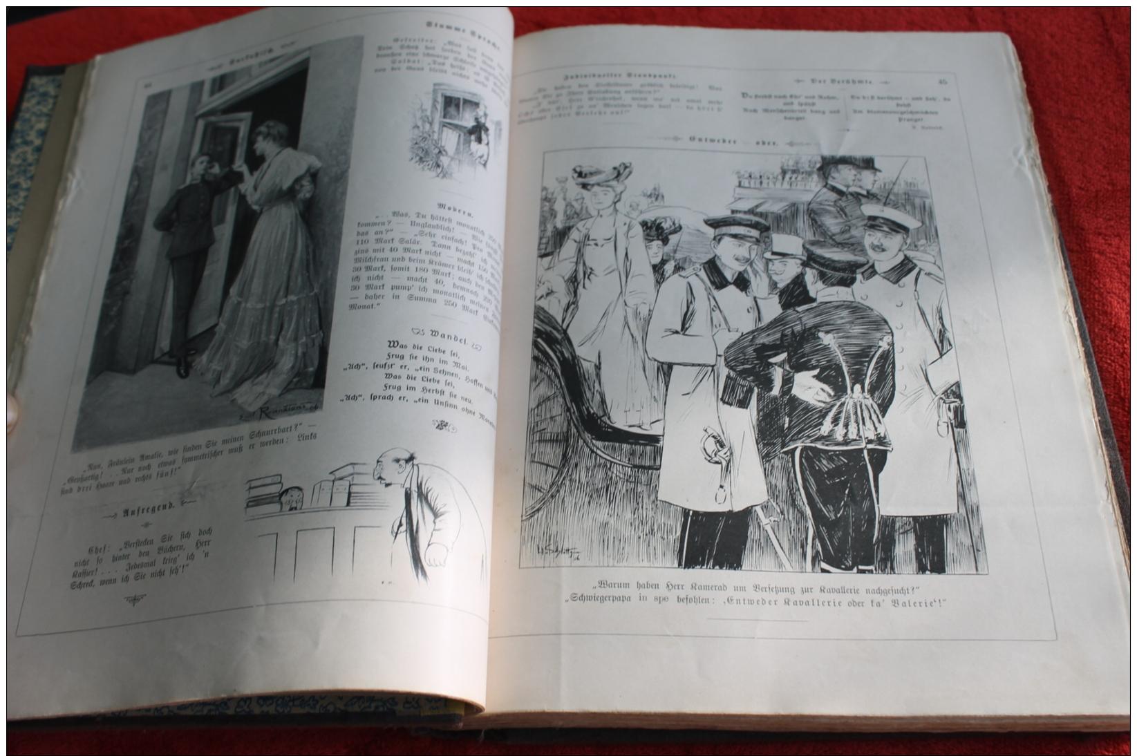 """Magazines Reliés  """"Fliegende Blätter"""" 1906 - Livres, BD, Revues"""