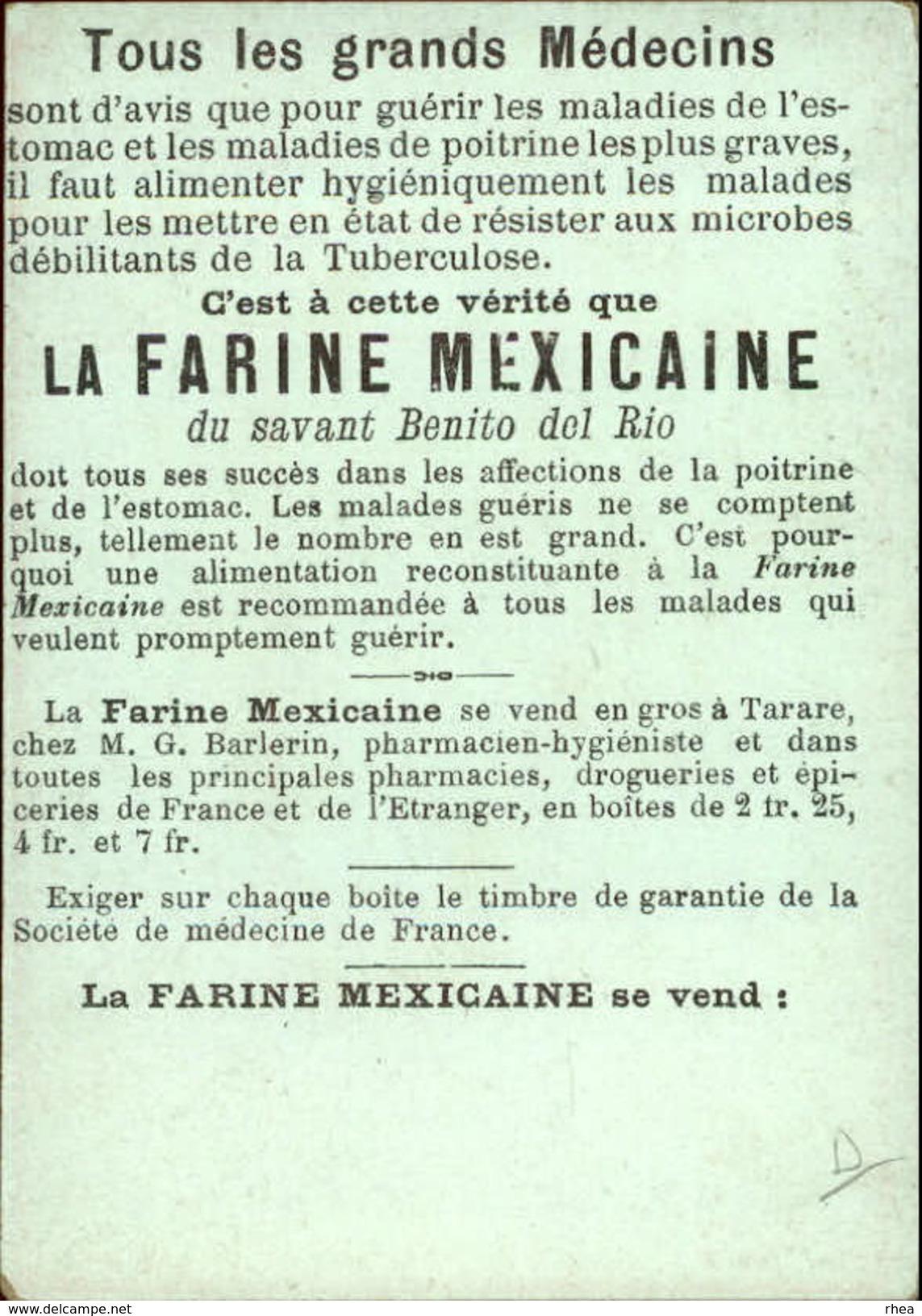 METIERS - CHROMO Farine Mexicaine - Marchand Ambulant - Chromos