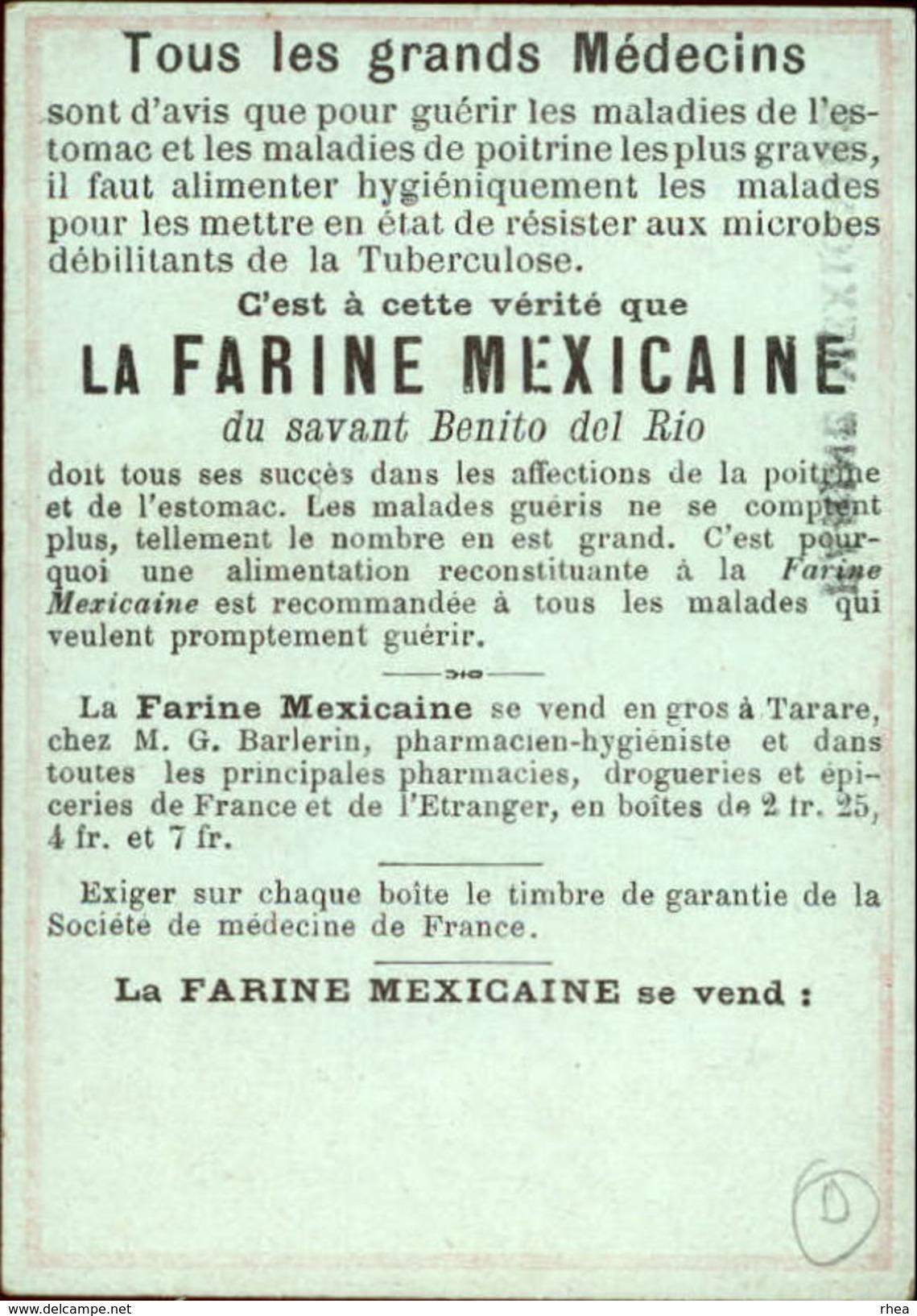 METIERS - CHROMO Farine Mexicaine - REMPAILLEUR DE CHAISES - Chromos