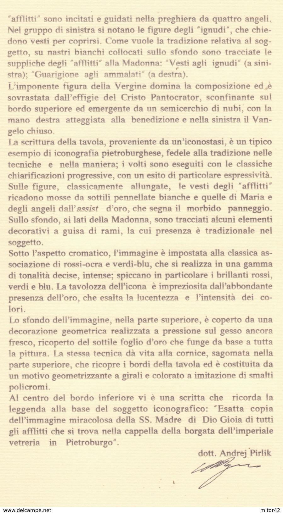 """Icona Russa Su Tavola Cm.44x53,3x2,7-""""La Madonna Gioia Di Tutti Gli Afflitti Coi Soldini"""" Con Certificato Di Autenticità - Altre Collezioni"""