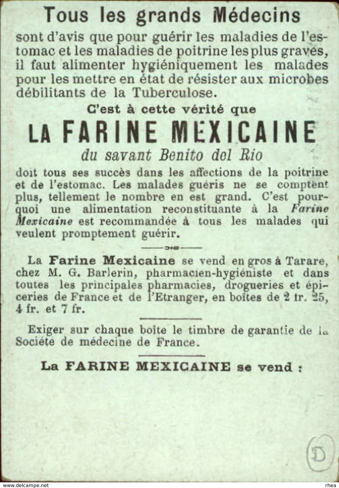 METIERS - CHROMO Farine Mexicaine - Marchande De Paniers - Chromos