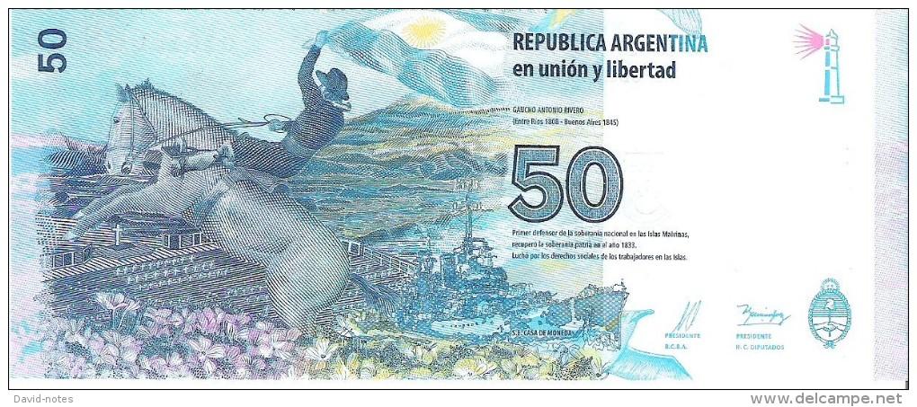 Argentina - Pick 362 - 50 Pesos 2015 - Unc - Commemorative - Argentine