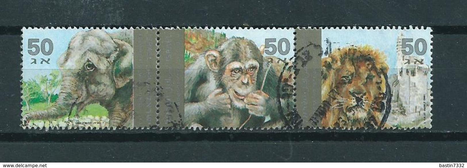 1992 Israel Zoo Animals,tiere,dieren Used/gebruikt/oblitere - Gebruikt (zonder Tabs)