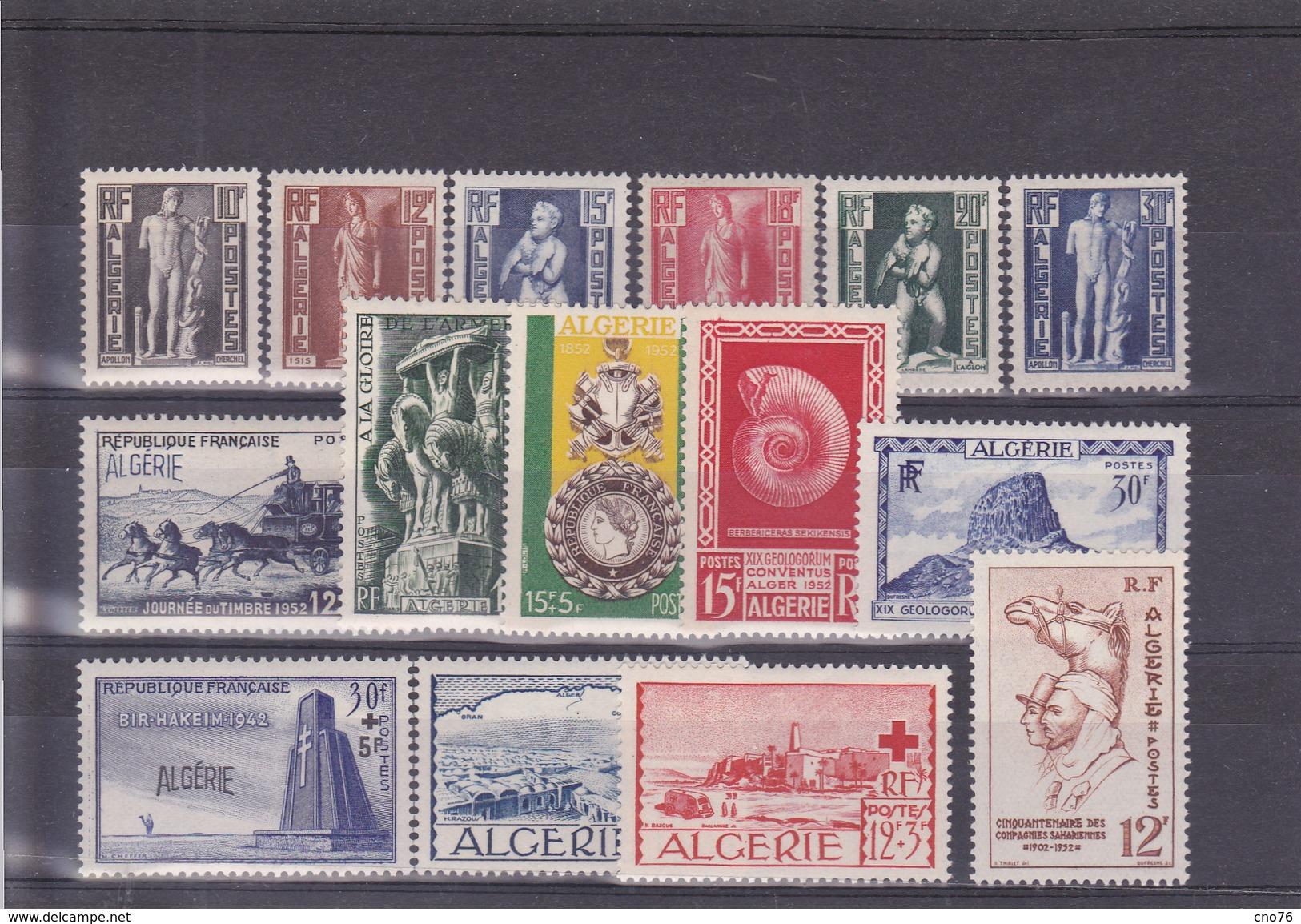 Algérie Année 1952 Du N° 288 Au N° 302 En Timbres Neufs ** Soit 15 Timbres - Argelia (1924-1962)