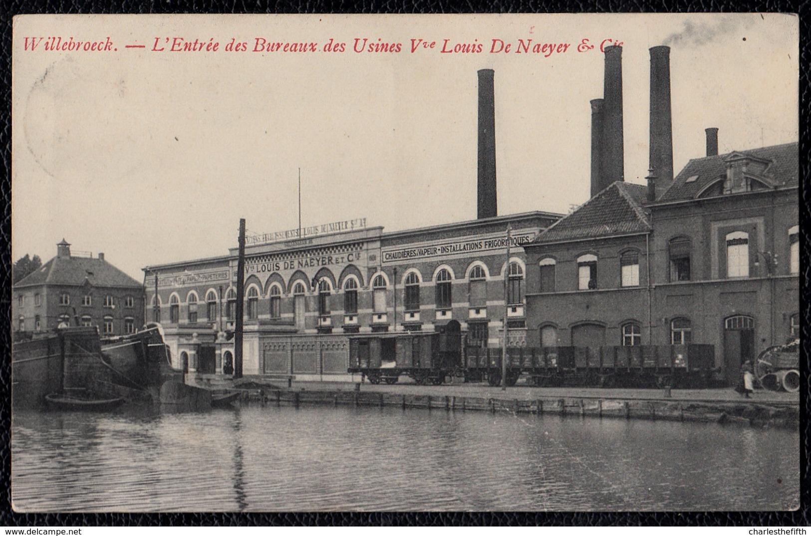 Willebroeck - Willebroek - Entrée Des Bureaux Des Usines Louis De Naeyer Et Cie - Animatie - Train - RARE - Willebroek