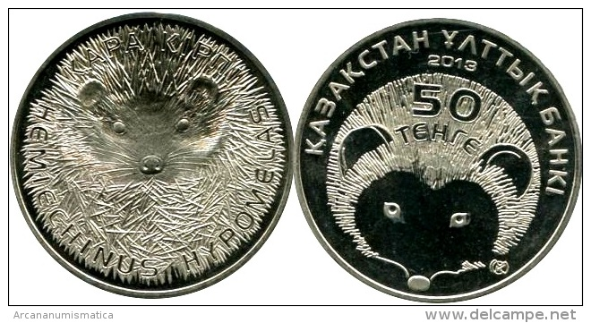 "KAZAKHSTAN   50  TENGE  2.013  2013   SC/UNC  ""ERIZO DE BRANDT""  T-DL-10.467 - Kazajstán"