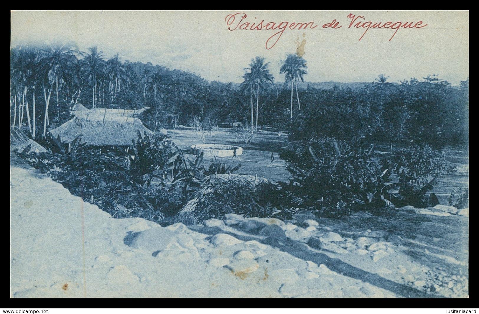 TIMOR - VIQUEQUE - Uma Paisagem De Viqueque. ( Ed. Da Missão)  Carte Postale - Timor Oriental