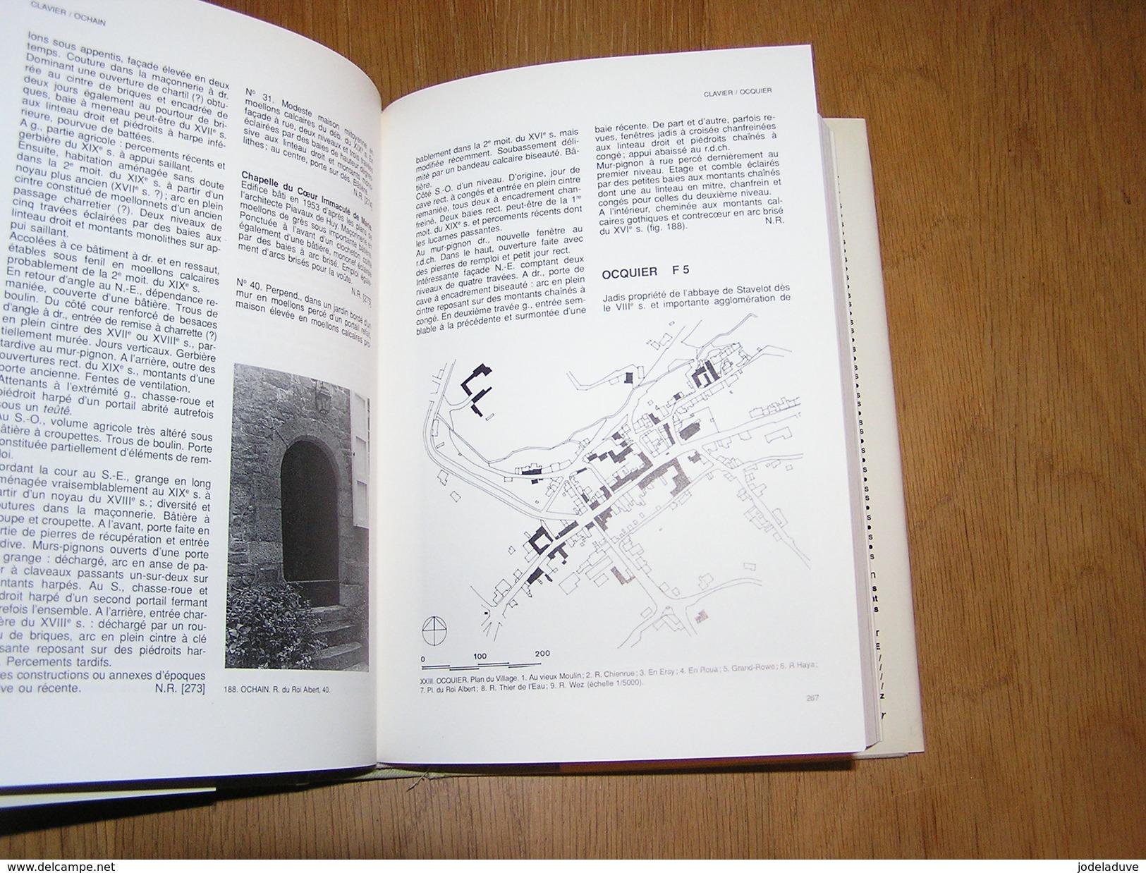 PATRIMOINE MONUMENTAL BELGIQUE 16 / 1 Huy Régionalisme Clavier Ocquier Amay Anthisnes Burdinne Tavier Hamoir Engis Heron - Belgium